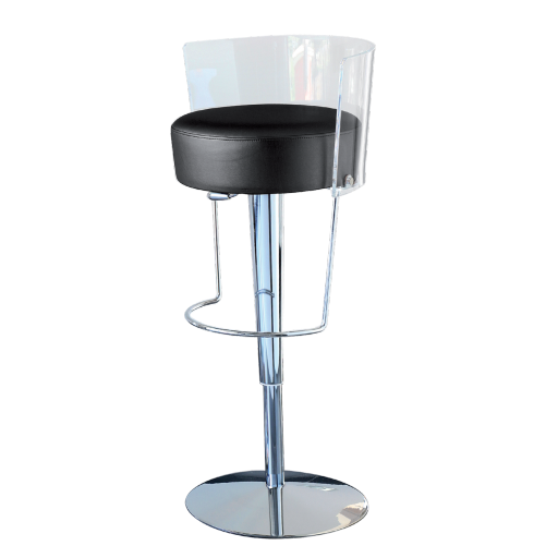 Tabouret salle de bain transparent - Tabouret de bar transparent ...