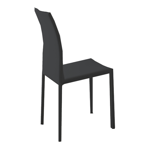 Groupe sofive crealigne chaises romina a381 for Chaise metal cuir