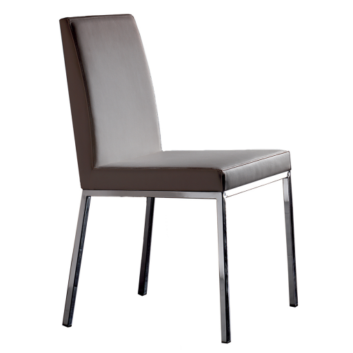 Chaises cuir marron conceptions de maison for Chaise simili cuir