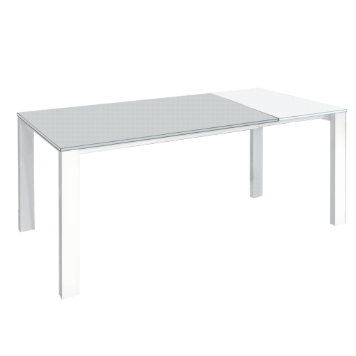 Groupe sofive crealigne tables bazic d181b for Table extensible verre blanc