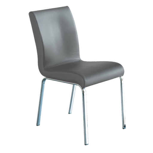 chaise cuir gris perfect tabouret de bar simili cuir gris suki chaises de bar kokoon design. Black Bedroom Furniture Sets. Home Design Ideas