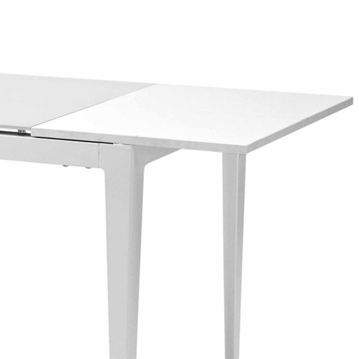 Groupe sofive crealigne tables eole d294b for Table extensible verre blanc